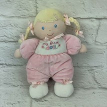 """Carter's Child of Mine Blonde Braid 8"""" MY FIRST DOLL Pink Plush Rattle L... - $12.16"""