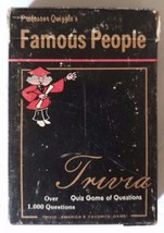 Professor Quizzles Famous People Quiz 1000 Questions 1984 Trivia Card Game - $12.19