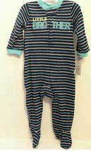 Carter's Just One You Baby Boy's LITTLE BROTHER Footed Sleeper - Size: 9 Month - $5.93