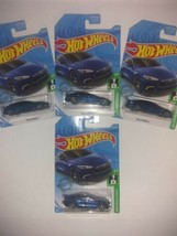 NEW Hot Wheels Tesla Model S Blue Metallic Lot Of 4 - $21.27