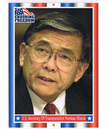 Enduring Freedom Picture Card #44 9-11 Norman Mineta Transportation Topp... - $0.94