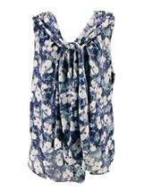 Jones New York Women's Plus Purple & Gray Floral Print Sleeveless Blouse... - $14.85