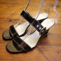 AK ANN KLEIN iFlex Akberlynn Bronze Leather Strappy Dress Pumps Sandals 10M 41 - $27.99