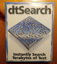 dtSearch Desktop With Spider Software and License Brand New Shrink Wrapped - $195.99