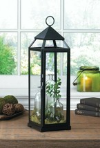 """Black Contemporary Candle Lantern Extra Tall 25"""" High - $39.55"""