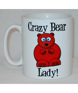 Crazy Bear Lady Mug Can Personalise Funny Animal Lover Zoo Keeper Kitch ... - $9.23