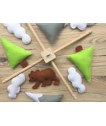 Baby mobile mountain, Nursery decoration handmade, UNISEX MOBILE BABY - $56.90