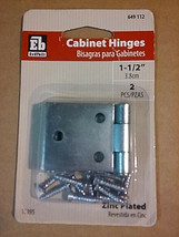 "1-1/2"" Zinc plated cabinet hinges - $2.95"