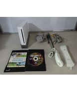 FULLY TESTED Original White Wii Console System w/ 2 Games 2 Controllers ... - $68.30