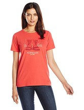 Life is good Women's Crusher Winter Wander Boots Tee, Simply Red,X-Large - $26.95
