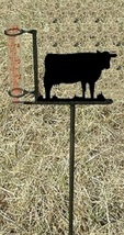 Cow Rain Guage - Rustic Metal Cabin Lodge Garden Yard Decor - $38.00