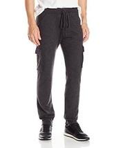 NWT Calvin Klein Men's Large Charcoal Cargo-Style Drawstring Sweatpants - $50.48