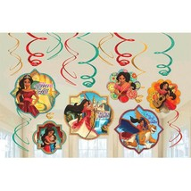 Elena of Avalor 12 Ct Swirl Decoration Value Pack Birthday Party - $7.12