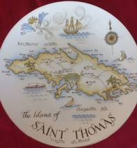 """ST. THOMAS VIRGIN ISLANDS COLLECTORS 10"""" PLATE MARKED TUSCAN FINE ENGLIS... - $11.75"""