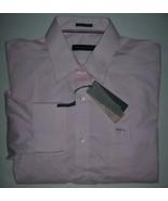 Tommy Hilfiger Men's Classic Fit Non-Iron Pink Banker Stripe Dress Shirt XL - $24.70