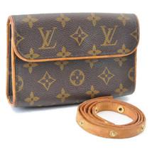 LOUIS VUITTON Monogram Pochette Florentine Bum Bag M51855 LV Auth 8627 - $480.00