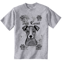 JACK RUSSELL TERRIER - NEW COTTON GREY TSHIRT - $23.17