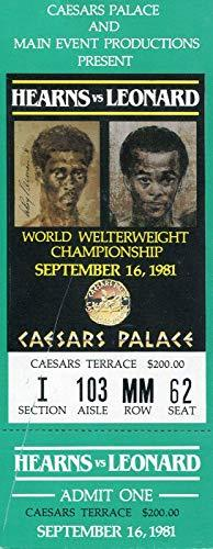 Sugar Ray Leonard vs. Thomas Hearns September 16, 1981 Caesar's Palace Ticket