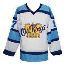 Custom Name # Edmonton Oil Kings Retro Hockey Jersey New White Semchuk Any Size image 1