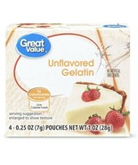 Unflavored  Gelatin - Great Value - 4 pouches Comparable To Knox - $2.99