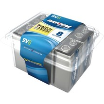 RAYOVAC A1604-8PPF Alkaline Batteries Reclosable Pro Pack (9V, 8 pk) - $32.50