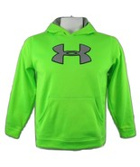 UNDER ARMOUR Youth Big Logo Storm Hoodie Neon Green Black/Gray Logo Size... - $25.69