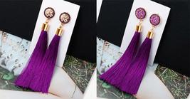 Europe Popular Women Earrings Fashion Earrings hanging cotton Lady Earrings - $8.88+