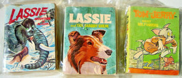 3-  A BIG LITTLE BOOK  Lassie, Tom & Jerry. Whitman 1960s - $8.95
