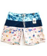 Billabong Platinum X Multi Color 4 Way Stretch Boardshorts Swim Trunks M... - £34.30 GBP
