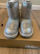 UGG AUSTRALIA T CLASSIC SHORT II Patchwork Silver TODDLER GIRLS BOOT 8 M... - £76.73 GBP