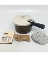Vintage Presto 4 Quart Aluminum Pressure Cooker #0122101 Clean w Instruc... - $42.06
