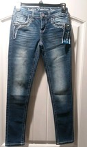 Justice Girls Premium Jeans Simply Low Súper Skinny Bling Size (10R) NWT - $20.35