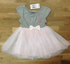 Pink & Violet Little Girls' Hearts Tutu Dress, Gray/Blush, Size 2T, MSRP $52 - $21.77