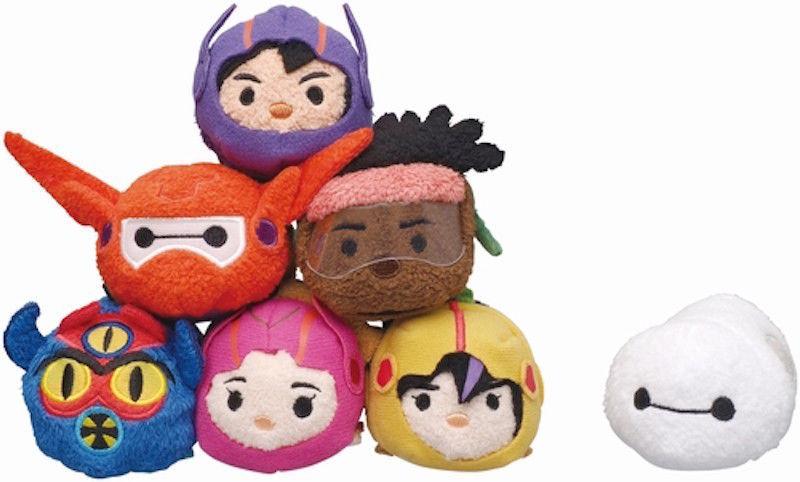 "Disney Store Authentic Big Hero Tsum Tsum 3 1/2"" Go go Tomago New"