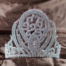 "Luxurious Queen Crown Handmade Bridal Wedding 5"" Rhinestone Princess Ful... - £78.66 GBP"