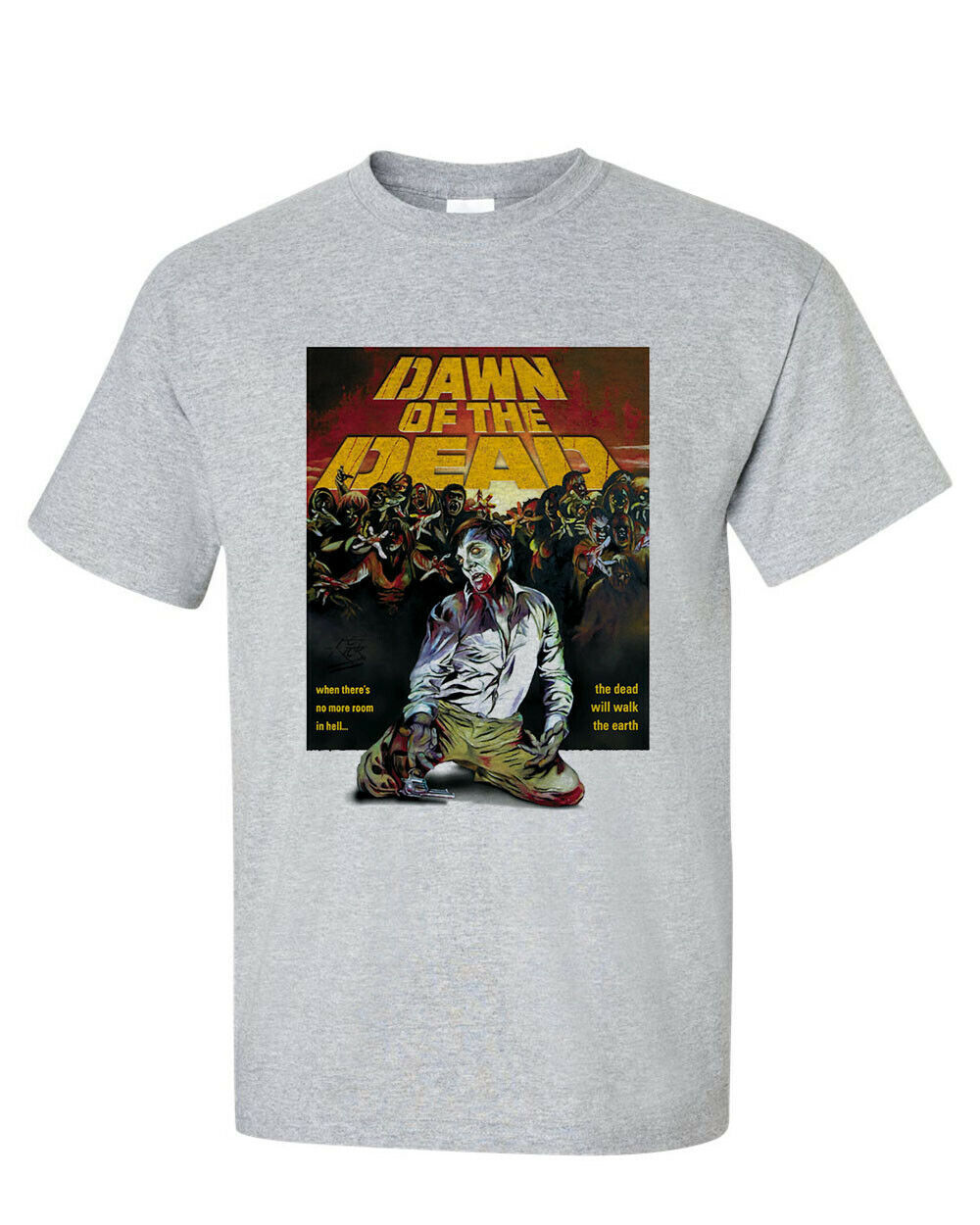 Dawn of the Dead 1978 t-shirt George A Romero Cult Horror zombie graphic tee