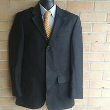 Men Kenneth Cole black Wool Blazer Sport Coat Jacket 40R  - $28.71
