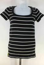 Ralph Lauren Shirt Top Black White Stripes Green Pony Sz S Short Sleeves - $34.50
