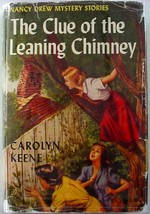 Nancy Drew The Clue of the Leaning Chimney 1953B-9 hcdj Carolyn Keene no.26 - $15.00