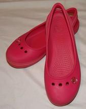 Crocs Mujer Júnior Rosa J 4 Sandalias Zapatos Sandalias Tira en Tobillo - $26.66