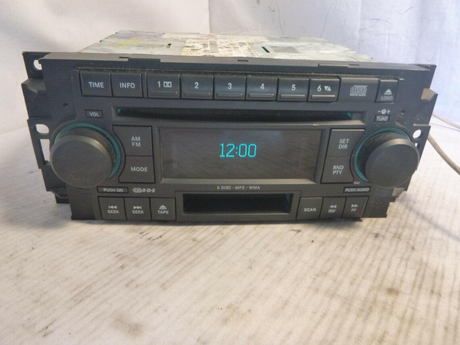 05-09 Chrysler Dodge RAK Radio 6 Disc Cd Mp3 Cassette Player P05091523AH RKV847