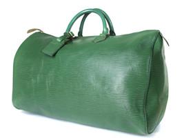 Authentic Louis Vuitton Speedy 40 Green Epi Leather Hand Bag LH0666 - $349.00