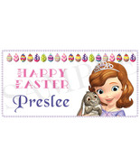 Sofia the First Easter Basket Sticker, Waterproof and Personalized - $3.25+