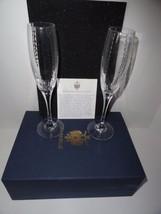 Faberge Bristol Clear Crystal  Flutes - $295.00
