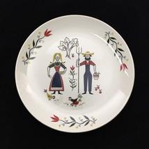 2 Homer Laughlin American Provincial by Rhythm Dinner Plates Amish PA Dutch  - $24.97