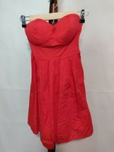 Rue 21 size S womens dress red white dots fit and flare strapless padded... - $18.46