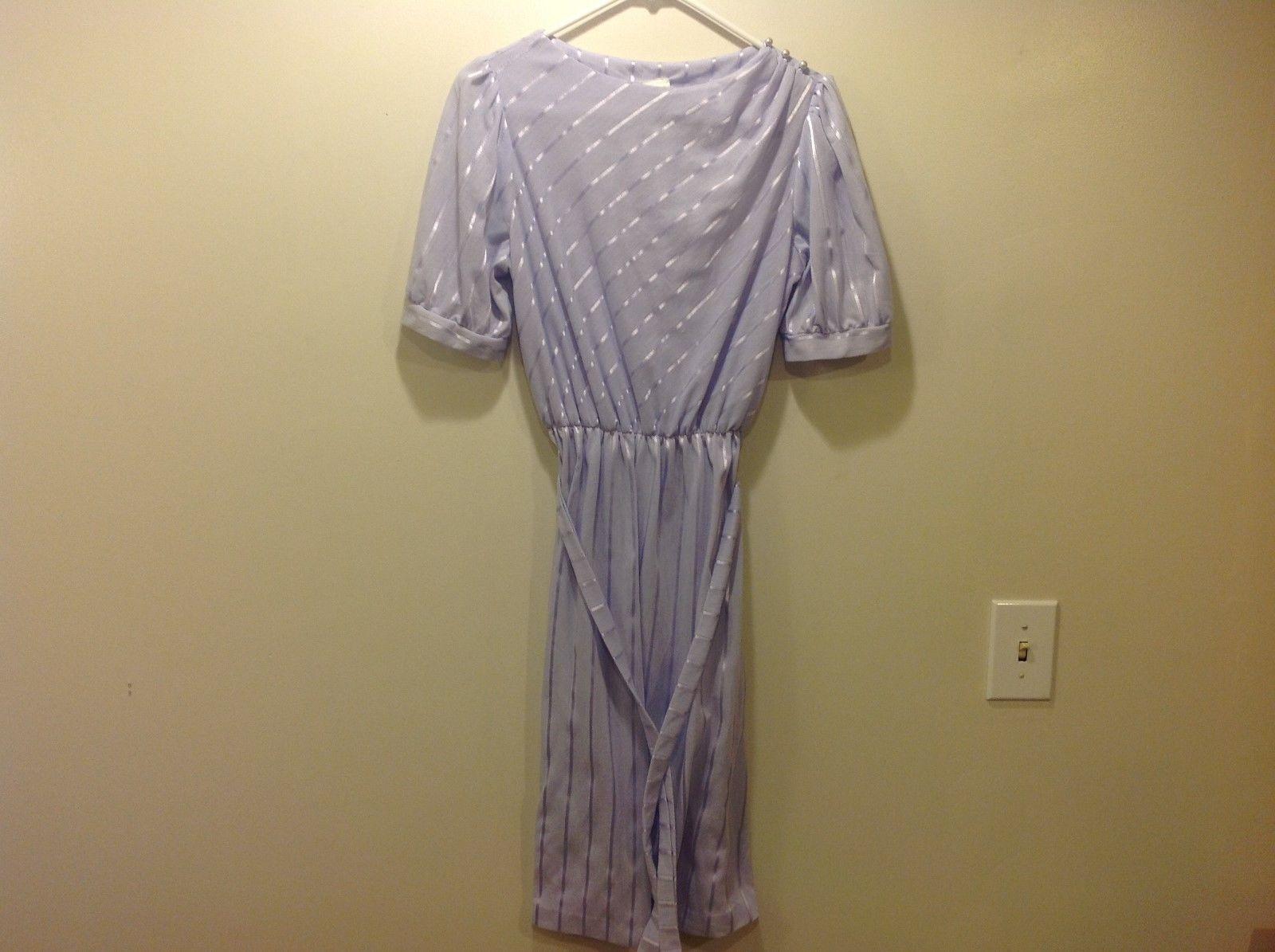 Oops California Lavender Dress w Matching Belt Sz 11-12