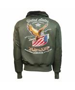 Top Gun Eagle CW45 Bomber Jacket Olive - $252.87