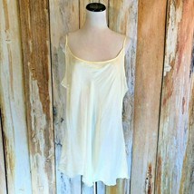AS-HRO Ivory Camisole Tank Shell Rayon Adjustable Straps sz 3XL EUC! - $13.99