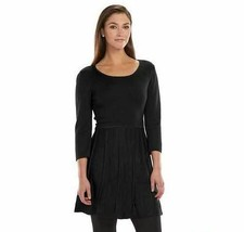New Ab Studio Fit & Flare Ladies Sweater Dress Black Variety Sizes - $32.72